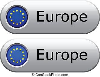 Vector EU flag buttons