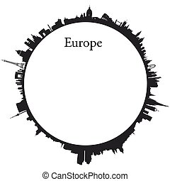 Vector Europe Circular background