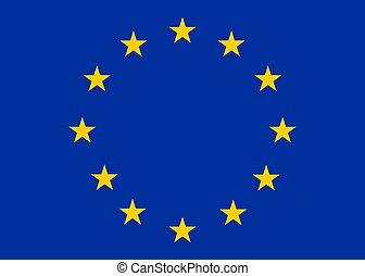 Vector Europe flag