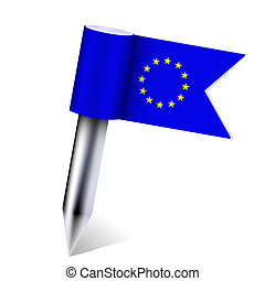 Vector European Union country flag isolated on white. Eps10
