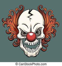 Vector evil clown. Clown scary, halloween clown monster,...