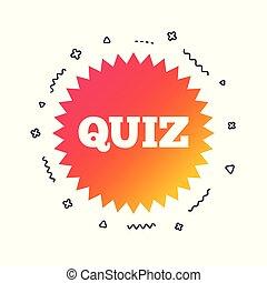 vector, examen, icon., señal, preguntas, respuestas, game.