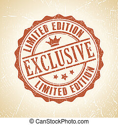 Vector exclusive stamp - Vector exclusive retro stamp
