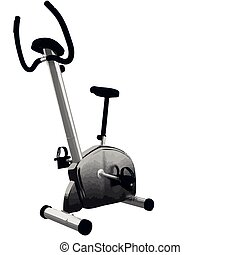 vector Exercise bicycle isolated on white