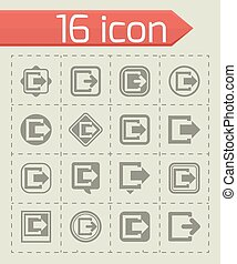 Vector Exit icon set