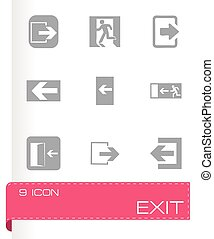 Vector exit icons set