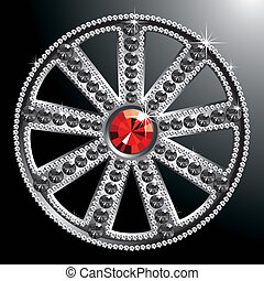 expensive silver diamond wheel