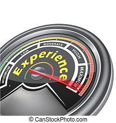 vector experience conceptual meter indicator