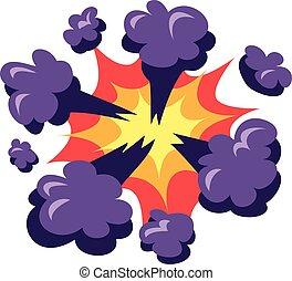 vector, explosión, auge, illustration.