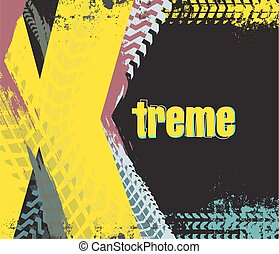 vector exreme rally car background