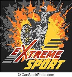 Vector eXtreme sport - moto emblem.