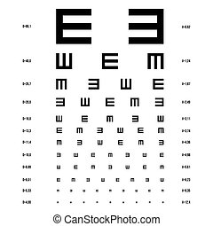 Vector eye test chart.