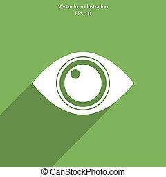 Vector eye web icon.