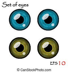 Vector eyes collection