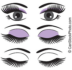 vector eyes with make-up