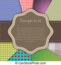 Vector fabric background for your design