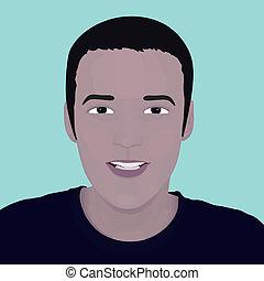 vector face man. design element