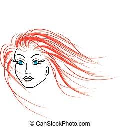 beautiful orange woman