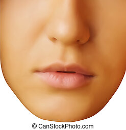 vector face portrait of beautiful young woman
