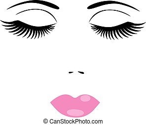 face - vector face with make up