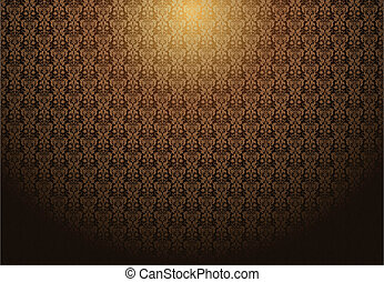 Vector Fading Damask Background