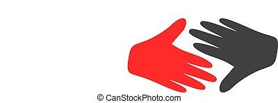 Vector Fair Trade Handshake Flat Icon Symbol