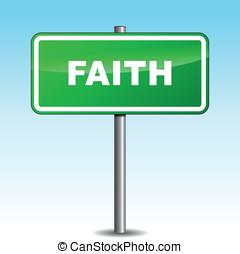 Vector faith signpost