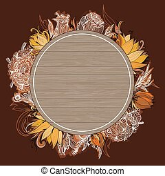 Vector Fall Floral Frame