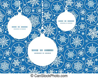 Vector falling snowflakes Christmas ornaments silhouettes...