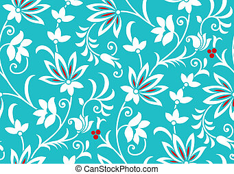 Vector fancy floral wallpaper