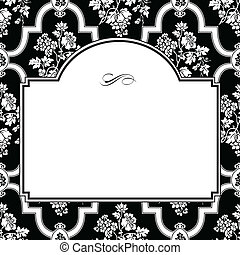 Vector Fancy Rose Frame and Pattern
