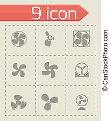 Vector fans and propellers icons set