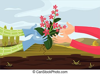 Vector farming flat illustration