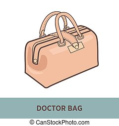 Vector fashion bag isolated on white