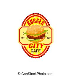 Burger with fries icon  fast food restaurant  Glitch effect  burger