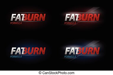 Vector Fat Burn text for dieting or sport nutrition concept,...