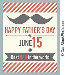 Vector fathers day card