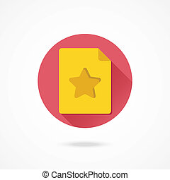 Vector Favorite Document Icon