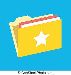 Vector Favorite Folder Icon