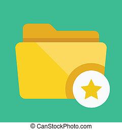 Vector Favorites Folder Icon