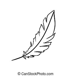 Vector Feather Doodle