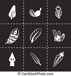 Vector feather icon set