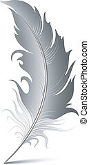 Vector Feather over white. EPS 8, AI, JPEG
