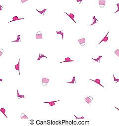 Vector feminine seamless pattern