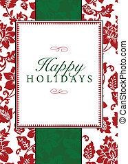 vector, feriado, themed, marco, y, patrón