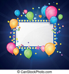 Vector Festive Background - Vector Illustration of a Festive...