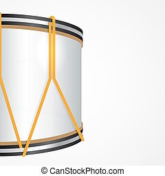 Vector Festive Background with a Majorette Drum - Realistic...