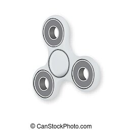 Vector Fidget Spinner Vector Toy. Realistic Hipster Finger Spinning Toy for Relaxation Hand Spinner Isolated on White Background