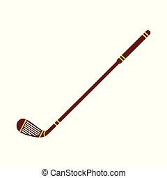 Vector field hockey stick flat icon for team sport