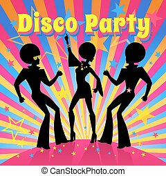 vector, fiesta., illustration., disco